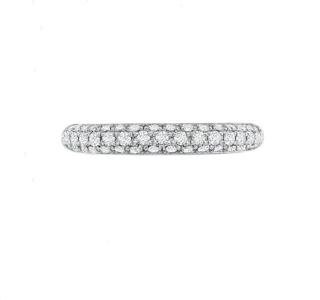 Platinum FlushFit Eternity Band .95ct