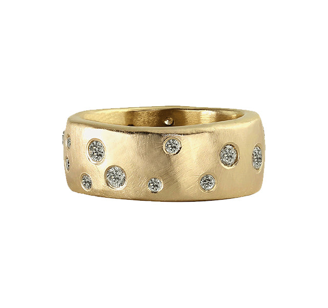 REND 14k Gold Scattered Diamond Ring