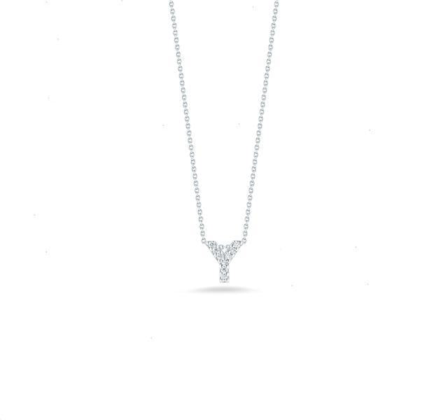 "Tiny Treasures Diamond Love Letter ""Y"" in White Gold"