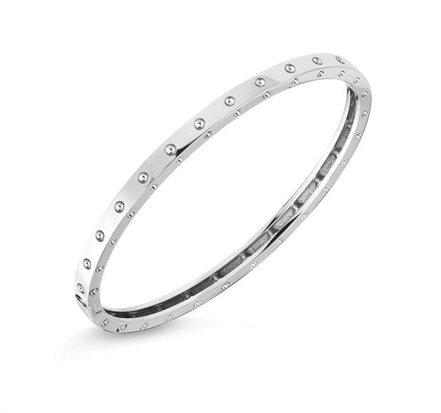 Symphony Pois Moi Bangle in White