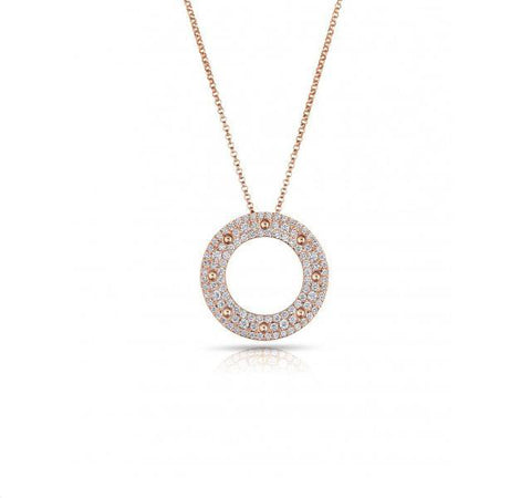Pois Moi Diamond Circle Pendant in Rose Gold