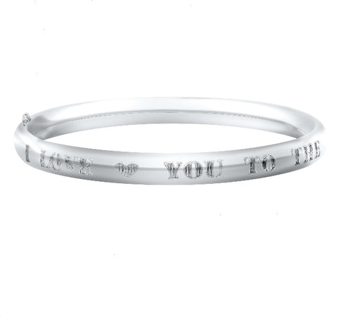 Moon And Back Baby Bangle in Silver