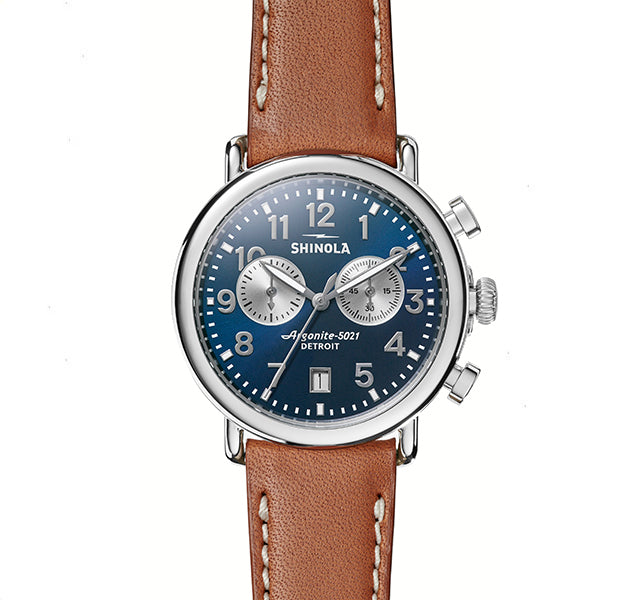 The Runwell 41mm Chronograph with Midnight Blue Dial