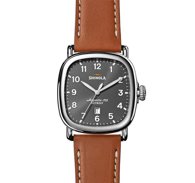 The Guardian 41mm Men's Watch with Dial and Tan Strap