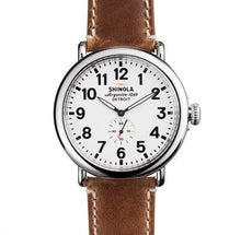 The Runwell 47mm Watch with White Dial