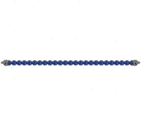 Blue Ceramic Bead Bracelet