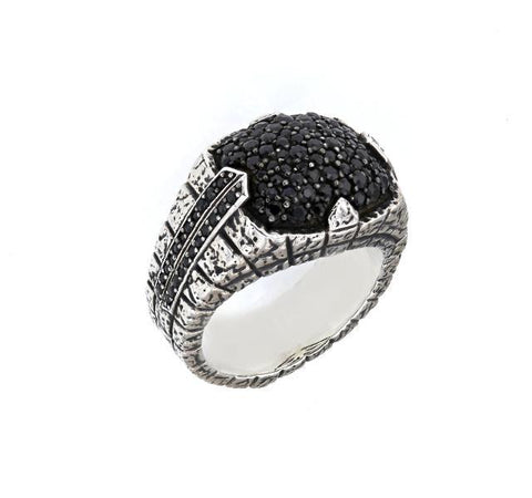 Highway Collection Black Sapphire Ring
