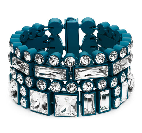 Domino Large Bracelet in Blue by Paul Andrew