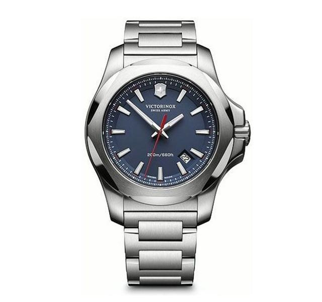 43mm INOX Watch with Blue Dial