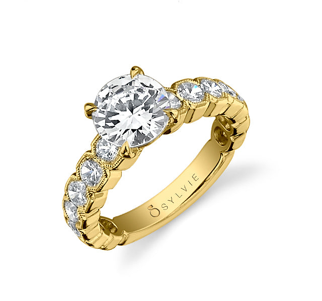 Diamond Engagement Ring Setting in Gold