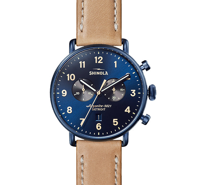 The Canfield Chrono 43mm With Midnight Blue Dial