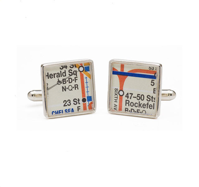 New York Subway Map Cufflinks