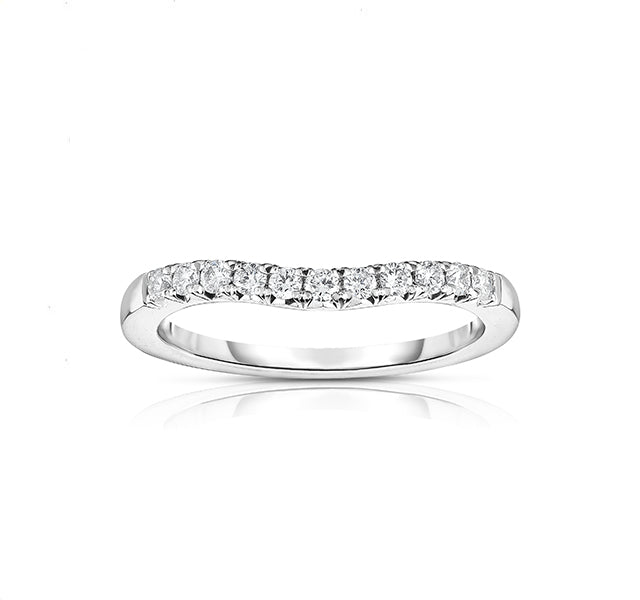 Curved French Cut Diamond Band