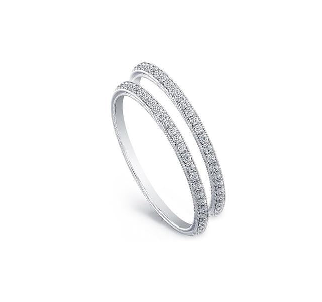 Thin Diamond Eternity Bands (Set of Two) in White Gold