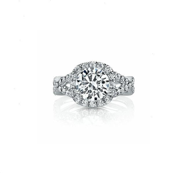 Twisted Diamond Engagement Ring Setting