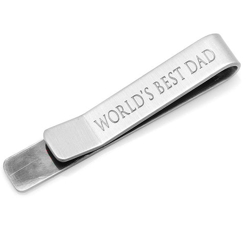 """World's Best Dad"" Tie Bar"