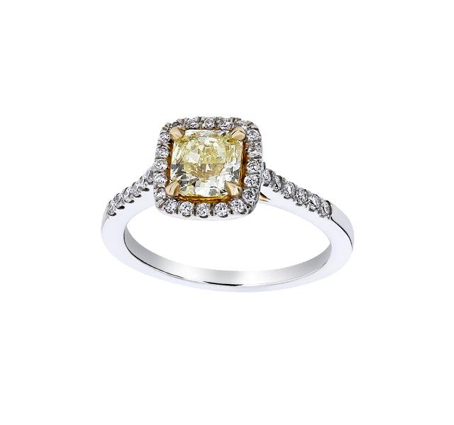 Yellow Radiant Diamond Engagement Ring