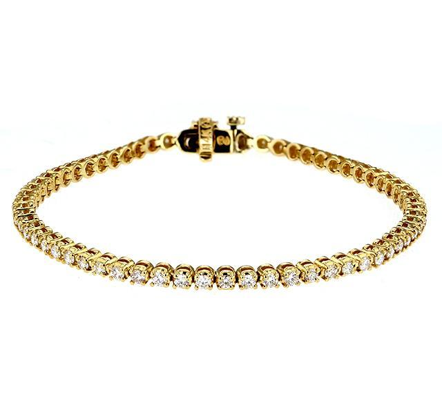 Diamond Tennis Bracelet in Yellow Gold