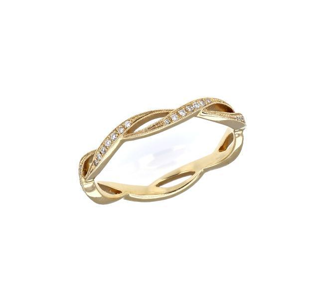 Infinity Diamond Band in Yellow Gold