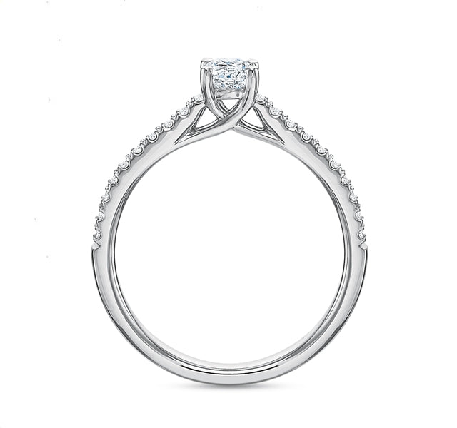 Round Brilliant Engagement Ring .50tw