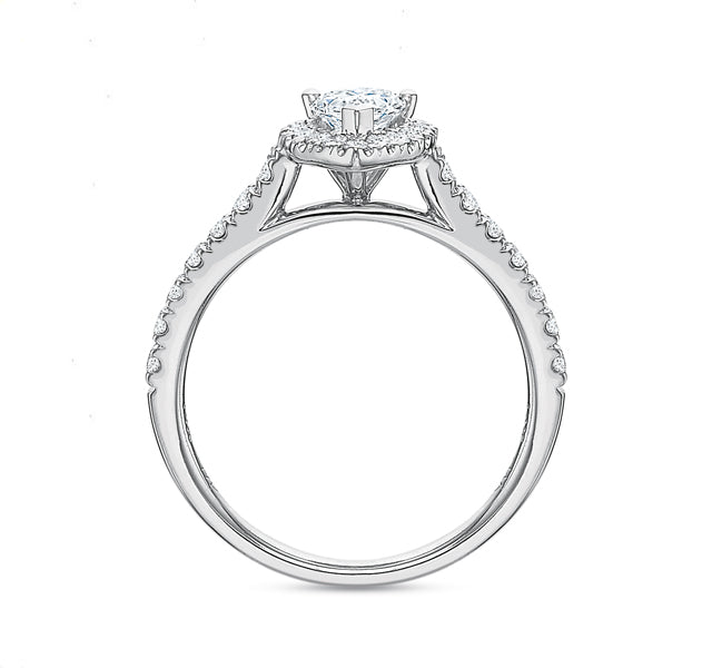 Pear Halo Engagement Ring 1.00tw