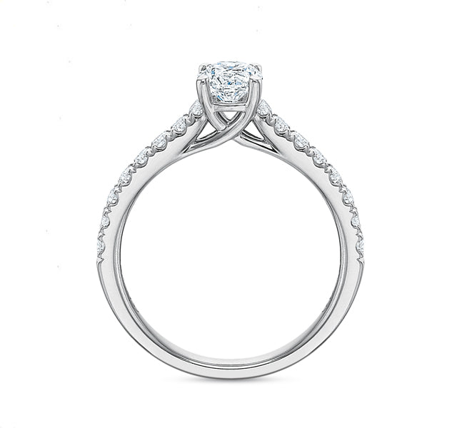 Round Brilliant Engagement Ring 1.00tw