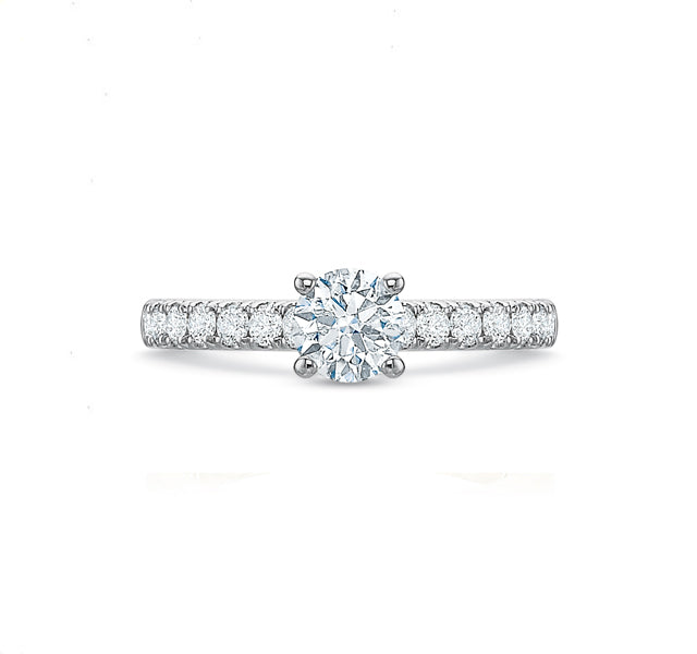 Round Brilliant Engagement Ring 1.25tw