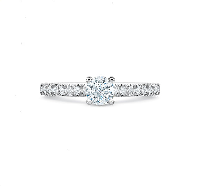 Round Brilliant Engagement Ring .75tw