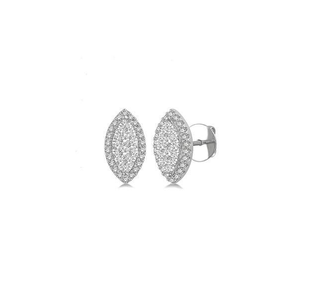 Marquise Diamond Cluster Studs