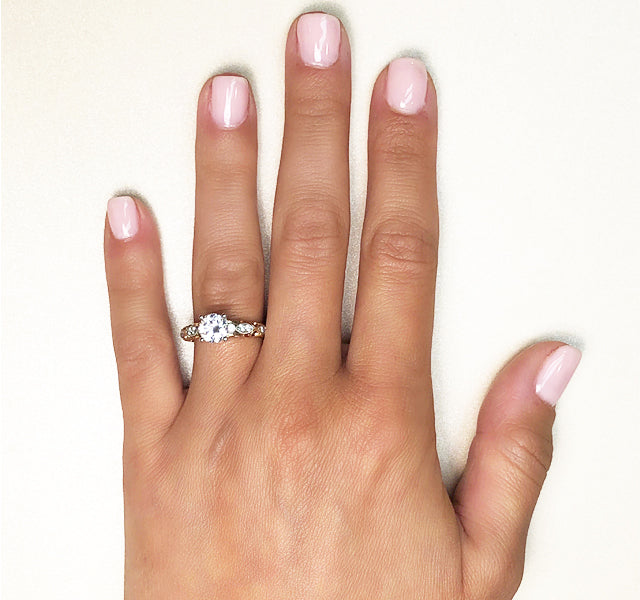 Two-Tone Engagement Ring Setting in Gold