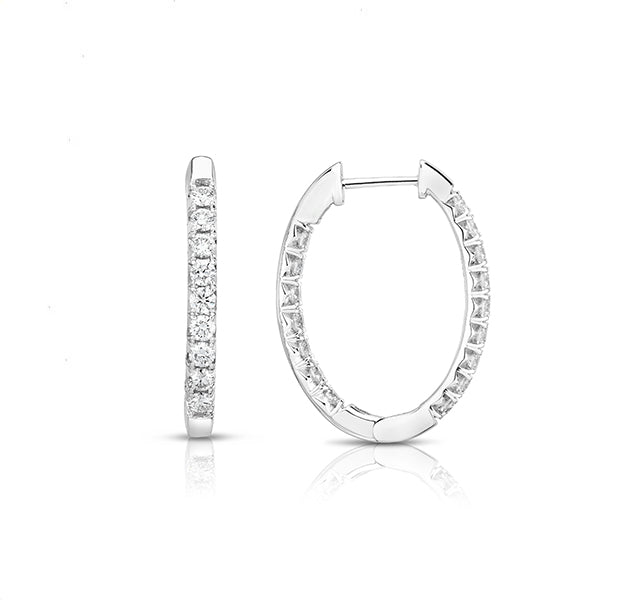 French Cut Oval Hoops