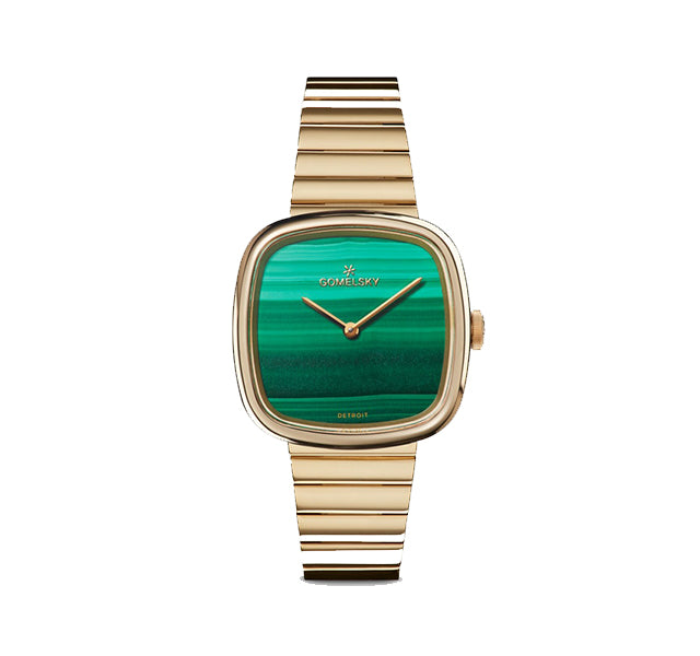 Gomelsky Eppie Mini Watch With Malachite Dial