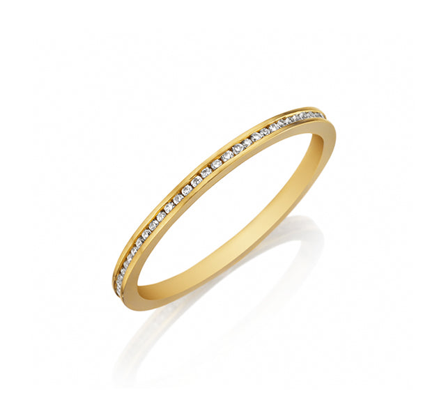 Diamond Thin Channel Eternity Band
