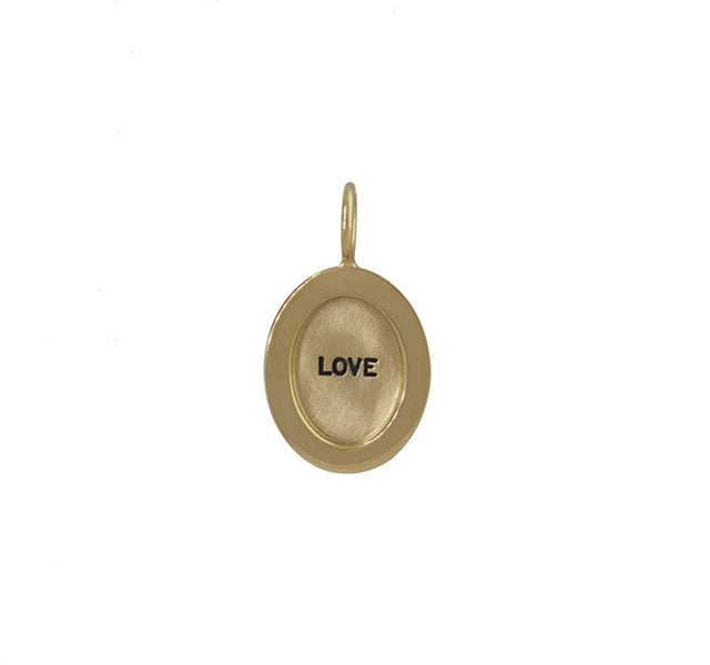 """LOVE"" Pendant in Gold"