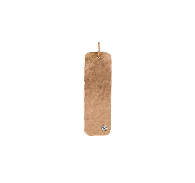 NIKI Medium 14k Gold Bar Pendant