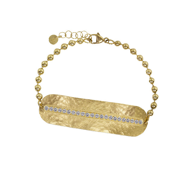 MOLY 14k Gold Bar Bracelet