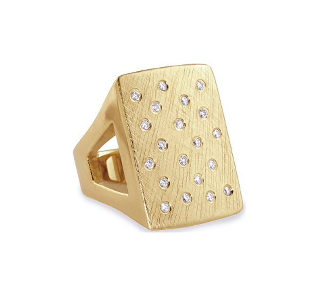 No. 2 14k Gold Block Ring