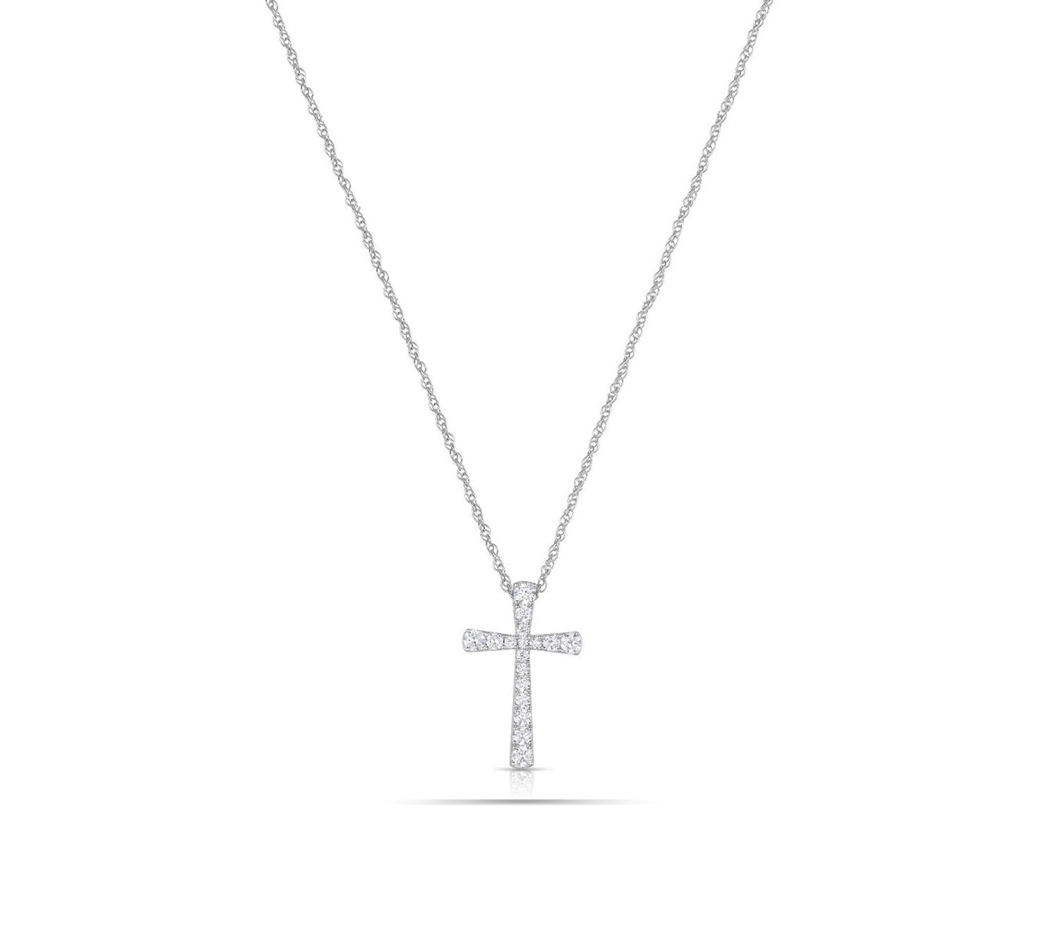 Flared Cross Pendant Necklace