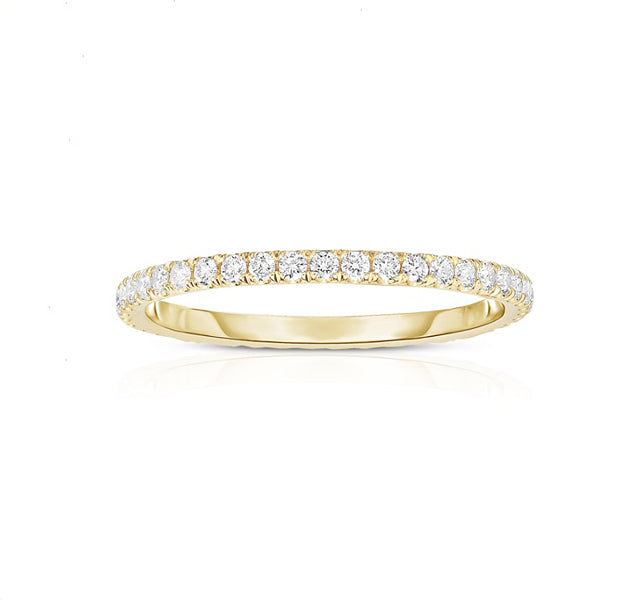 14k Yellow Gold Eternity Band With Split Prong