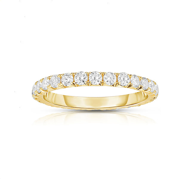 14k Yellow Gold French Cut Eternity Band SZ 6.5