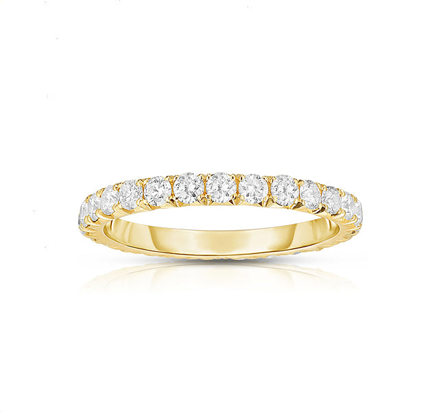 14k Yellow Gold French Cut Eternity Band SZ 6