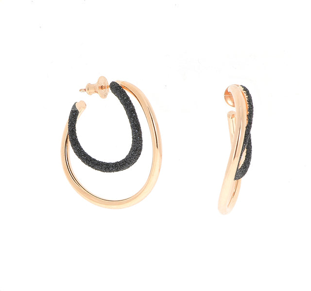 2-Tone Wave Polvere Earrings
