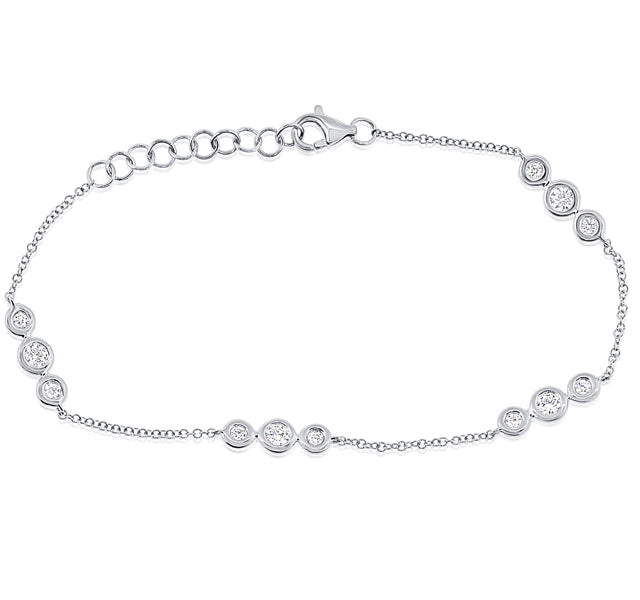 Diamond Bezel Station Bracelet