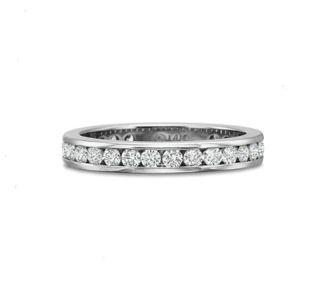 Classic Diamond Eternity Platinum Band 1.00ct