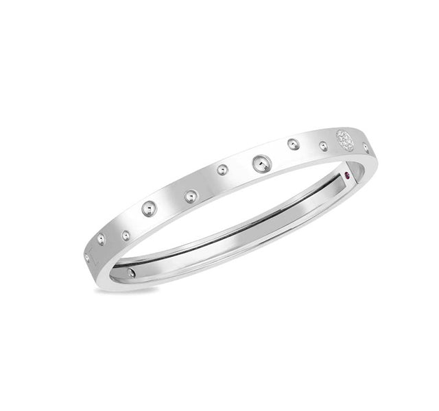 Pois Moi Luna Diamond Thin Bangle Bracelet