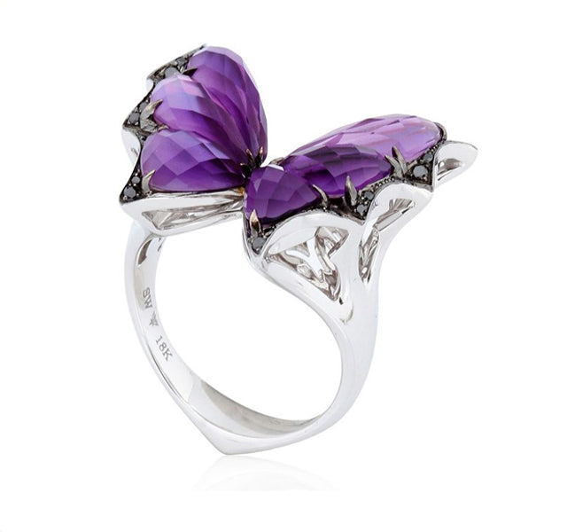 Fly By Night Butterfly Ring