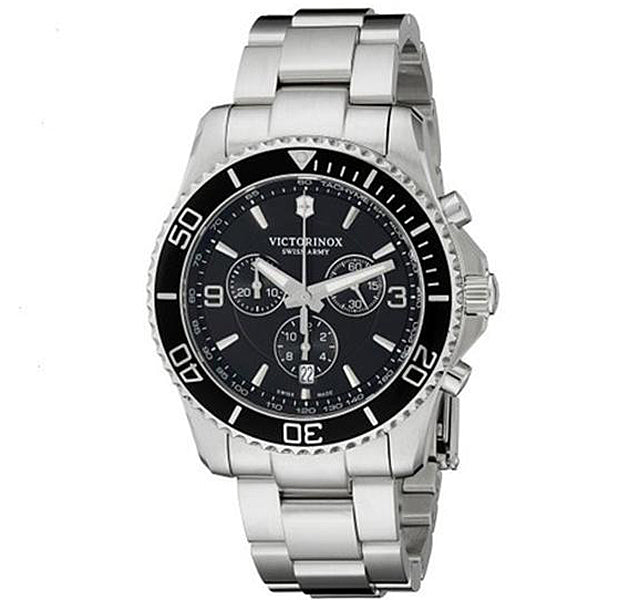 43mm Maverick Chronograph Watch with Black Dial