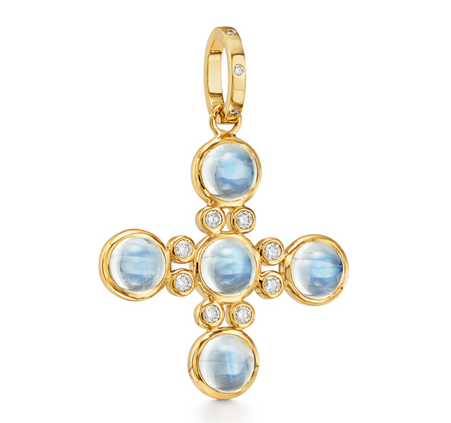 Moonstone Cross Pendant