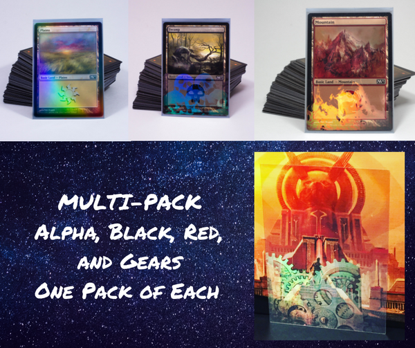 MULTI-PACK with BLACK, RED, GEARS, and ALPHA - 1 Pack of Each