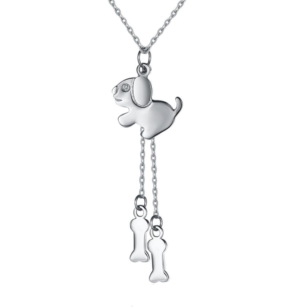 Dog & Bones Sterling Silver Pendant